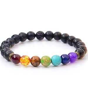 Lava Rock beaded bracelet